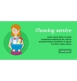 Member of the Cleaning Service with Glass Cleaner vector image vector image