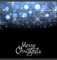 merry christmas winter abstract glowing background vector image
