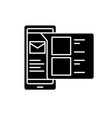 mobile contacts black icon concept sign on vector image vector image