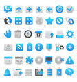 modern blue icon set vector image vector image