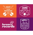 music production logos set Musical label vector image vector image