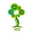 nature ecology tree icon vector image vector image