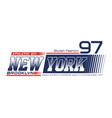 new york brooklyn typography design vector image vector image