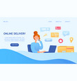 online delivery and logistics concept vector image