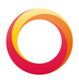 orbit icon rounded ring designed with vector image vector image