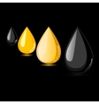 Petroleum gasoline petrol oil drop vector image vector image