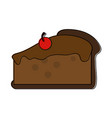 pie with cherry pastry icon image vector image vector image