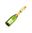 realistic 3d detailed champagne green bottle vector image