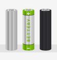 realistic aa type battery vector image vector image