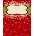 red christmas background with snowflakes vector image vector image