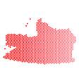 red dot kaliningrad region map vector image vector image