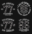 set of los angeles graphic design for t-shirt vector image vector image