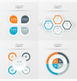 set of presentation design orange blue gray vector image vector image