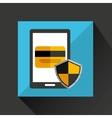 smartphone cartoon credit card bank save icon vector image