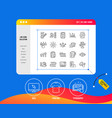survey or report line icons set of opinion vector image