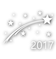 Turn of the year to 2017 vector image