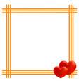 valentine card frame design template vector image
