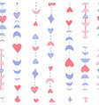 valentine s heart and moon phases seamless pattern vector image