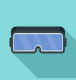 vr game goggles icon flat style vector image vector image