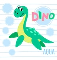 Water dinosaur vector image vector image