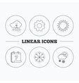 Weather sun and snow icons vector image