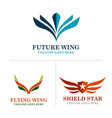 wing abstract logos vector image