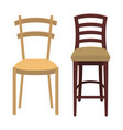wood chair design vector image vector image