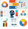 Infographics 9 templates set three positions vector image