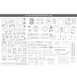 big set of icons for interior top view plans vector image