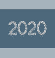 2020 white snow numbers vector image