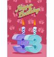 33 years celebration 33nd happy birthday vector image