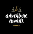 adventure awaits hipster photo overlay vector image vector image