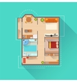 Apartment Interior Design Project View From Above vector image