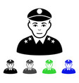 army general flat icon vector image