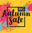 autumn sale banner with bright abstract spots vector image vector image