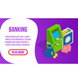 banking concept banner isometric style vector image vector image