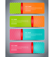 Banners with Gift Box vector image