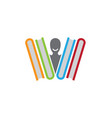 books education logo library person smile icon vector image