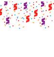 bright colorful confetti background vector image vector image