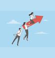 business team success development concept vector image