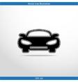 car web flat icon vector image vector image