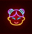chinese girl neon sign vector image vector image