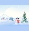 christmas morning snowman vector image