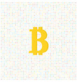 coin bitcoin on a digital background vector image vector image