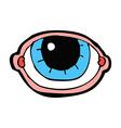 comic cartoon staring eye vector image