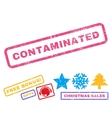 Contaminated Rubber Stamp vector image vector image