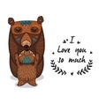 Cute bears with text I love you so vector image