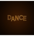 Dance neon sign vector image vector image