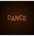 Dance neon sign vector image