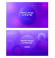 dark blue purple abstract geometric landing page vector image vector image